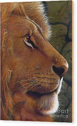 Lion King Wood Print by Jurek Zamoyski