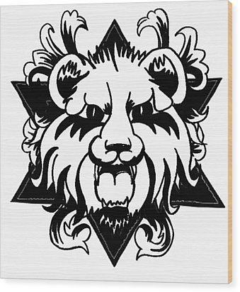 Lion Of Judah Wood Print by Marvin Barham