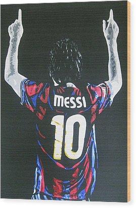 Lionel Messi - Barcelona Fc Wood Print