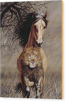 Lionheart Wood Print