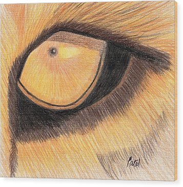 Lions Eye Wood Print by Bav Patel