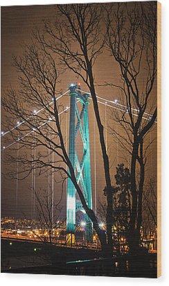 Lions Gate Bridge Wood Print by Jorge Ligason