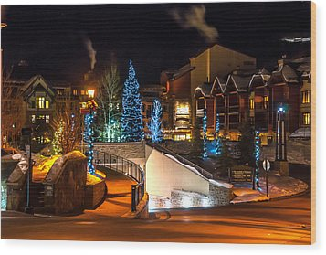 Lions Head Village Vail Colorado Wood Print by Brenda Jacobs