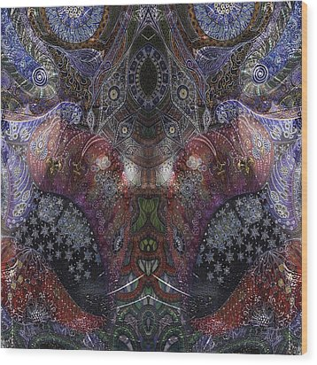 Lips Wood Print by Ellie Perla