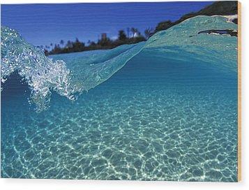 Liquid Energy Wood Print by Sean Davey