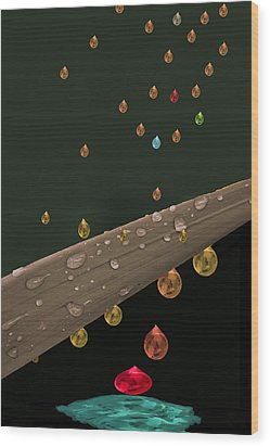 Liquid Gold Wood Print by Angela A Stanton