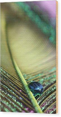 Liquid Reflections Wood Print
