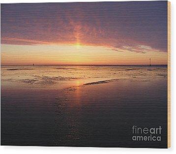 Liquid Sunrise Wood Print