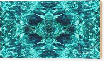 Liquify Aqua Wood Print