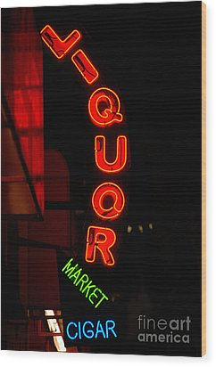 Liquor Market Wood Print by Lee Roth