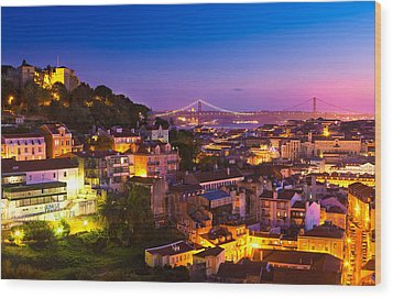 Lisbon 02 Wood Print by Tom Uhlenberg