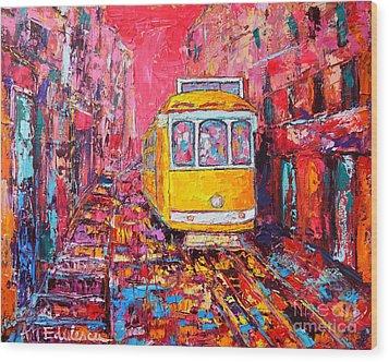 Lisbon Impression Wood Print by Ana Maria Edulescu