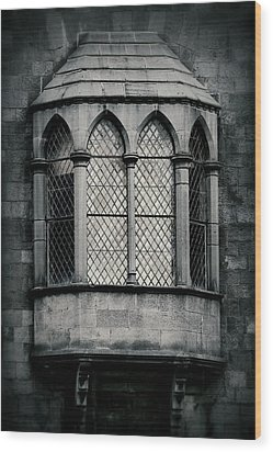 Lattice Castle Window Wood Print