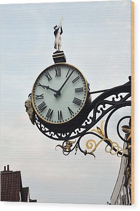 Little Admiral Clock York England Wood Print by Tom Wurl