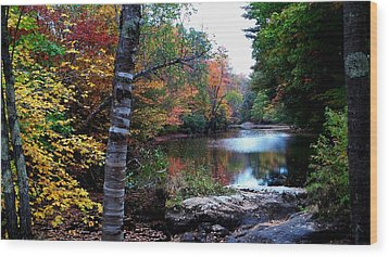 Little Androscoggin River Wood Print