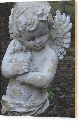 Wood Print featuring the photograph Little Angel by Beth Vincent