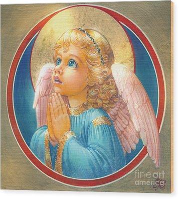 Little Angel Wood Print by Zorina Baldescu