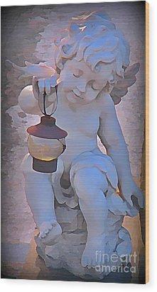 Little Angels Light The Way Wood Print by John Malone