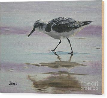 Little Beach Bird Wood Print