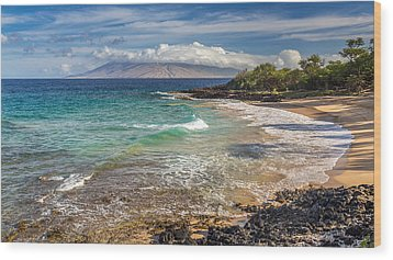 Little Beach Maui Sunrise Wood Print
