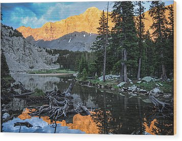 Little Bear Peak And Lake Como Wood Print