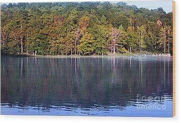 Little Beaver Lake Wood Print