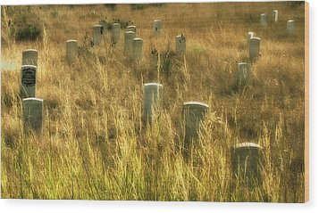 Little Big Horn Gravesite Wood Print