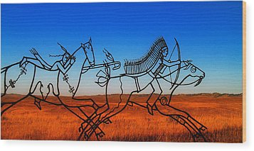 Little Big Horn Wood Print