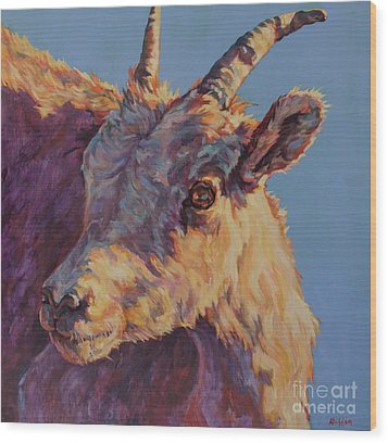 Little Bighorn Wood Print by Patricia A Griffin