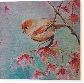 Little Bird  Wood Print by Kathy  Karas