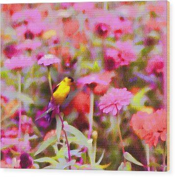 Little Birdie In The Spring Wood Print by Bill Cannon