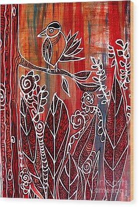 Little Birdie Wood Print