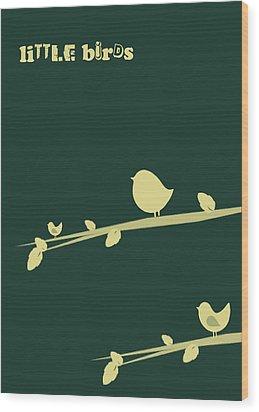 Little Birds Wood Print by Mark Ashkenazi