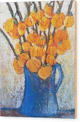 Little Blue Jug Wood Print by Sherry Harradence