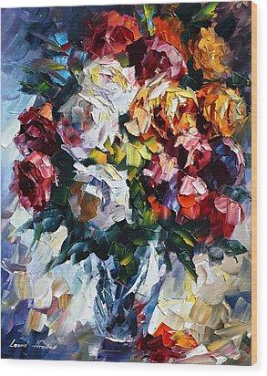 Little Bouquet Wood Print by Leonid Afremov