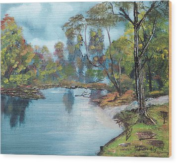 Wood Print featuring the painting Little Brook by Michael Daniels