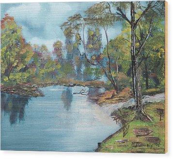 Little Brook Wood Print by Michael Daniels