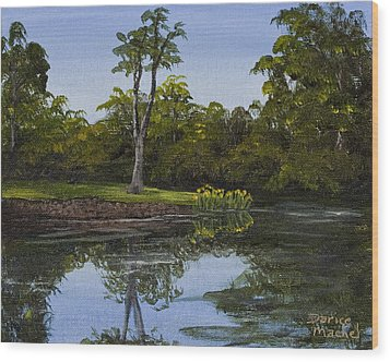 Little Chico Pond Wood Print by Darice Machel McGuire