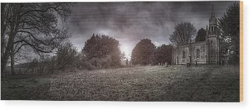 Little Church On The Hill Wood Print by Jason Green