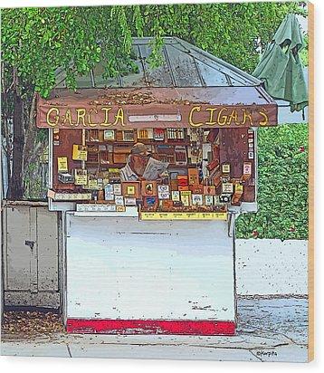 Little Cigar Shop Key West Wood Print