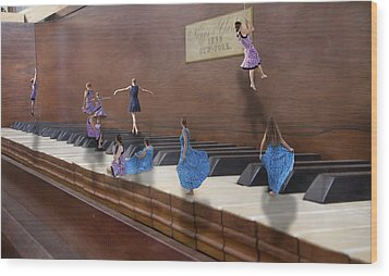 Little Composers IIi Wood Print by Betsy Knapp