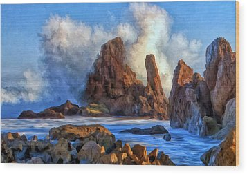 Wood Print featuring the painting Little Corona by Michael Pickett
