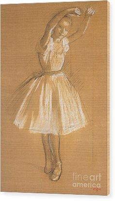 Little Dancer Wood Print by Edgar Degas