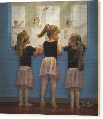 Little Dancing Dreamers Wood Print by Doug Kreuger