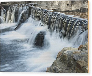 Wood Print featuring the photograph Little Falls by Raymond Earley