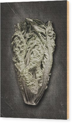 Little Gem Lettuce Wood Print