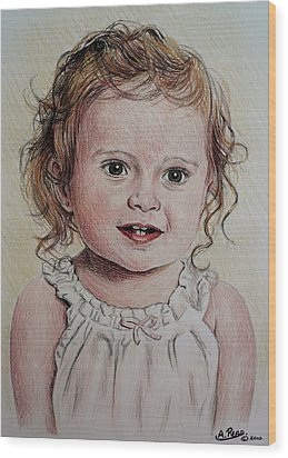 Little Girl Wood Print by Andrew Read