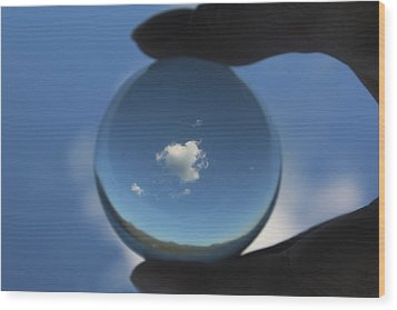 Little Heart Cloud Wood Print by Cathie Douglas