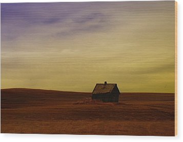 Little House On The Prairie  Wood Print by Jeff Swan
