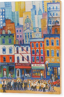 Little Italy New York Wood Print